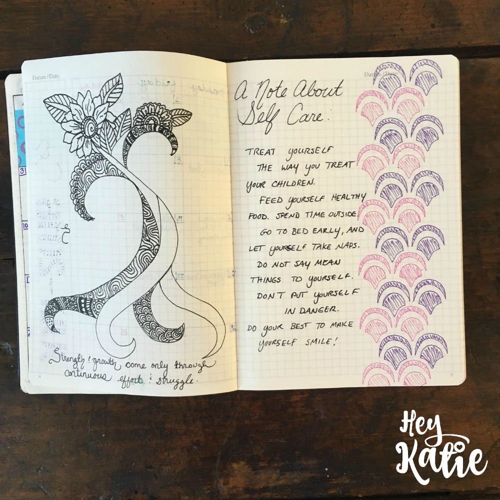 Adding quotes to a bullet journal