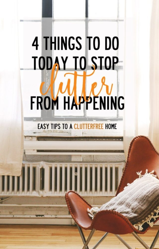 How to Stop Cluttering From Happening