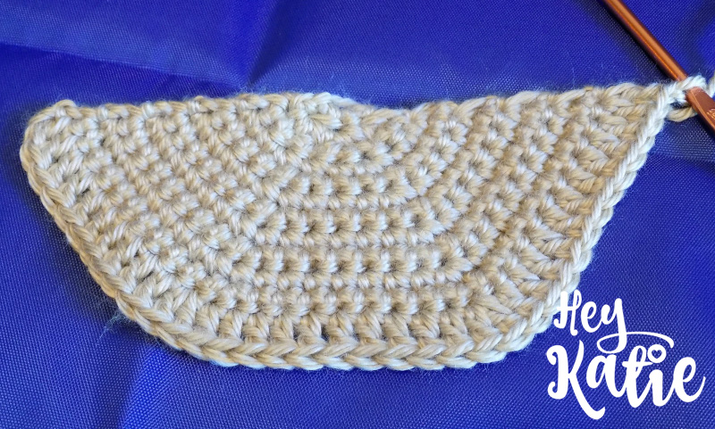 Tri-Color Half Circle Purse Crochet Pattern