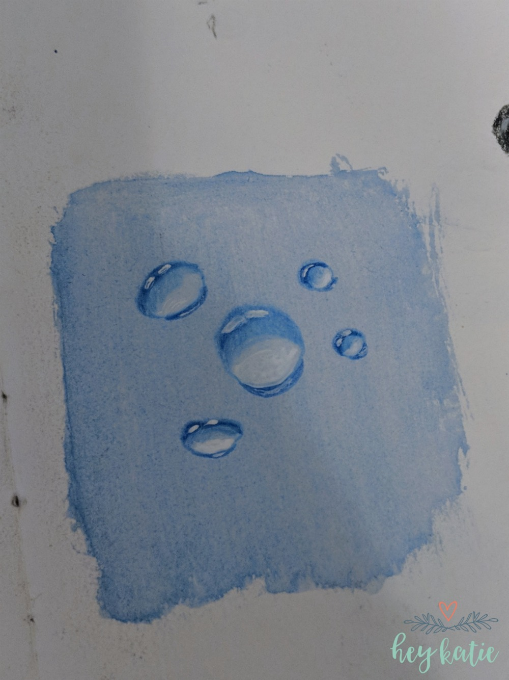 How to Draw Realistic Water Droplets | Watercolors, Colored Pencils and Ink