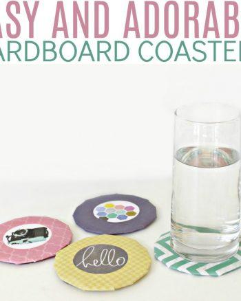 Adorable DIY Cardboard Coasters