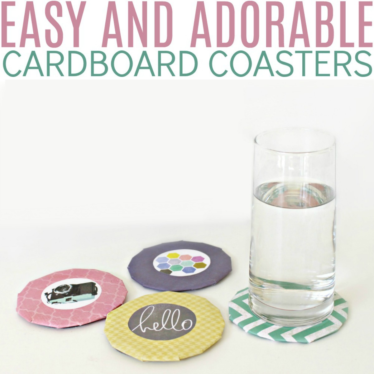 Adorable DIY Cardboard Coasters